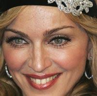 Мадонна украсила лицо бриллиантами
