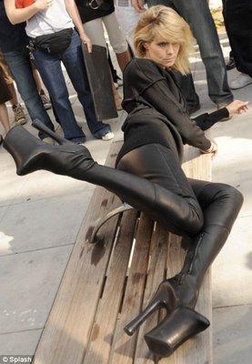 Каблуки Хайди Клум перекрыли улицу в Лос-Анджелесе