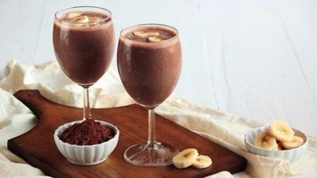 Шоколадно-банановый коктейль от кашля