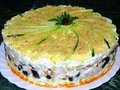 Подборка лучших рецептов салатов-тортов👍